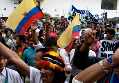 Ecuador Court Frees 3 Indigenous Leaders Jailed on Terrorism Charge