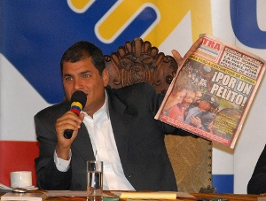 Correa Seeks Tighter Control of Press & Courts in Ecuador Vote
