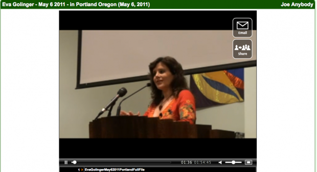 Eva Golinger's talk on May 6th in Portland