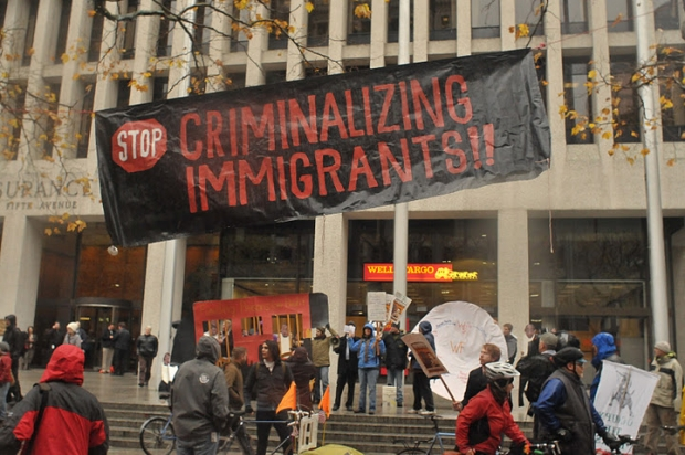 Press Release – 9 Arrested Occupying Wells Fargo, Protesting For-Profit Prisons