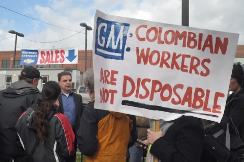 Protesters Drive Home Unfair General Motors Practices at Local Dealership