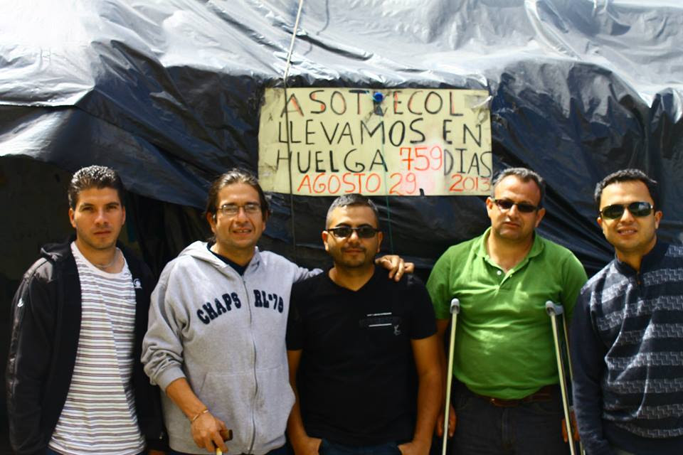 asotrecol.grupo_a_las_Carpas,signo_en_la_huelga