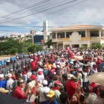 People's concentration in Honduras, Police line