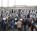 "Oct 9th –  ""Money for Jobs and Education, Not War and Occupation"""