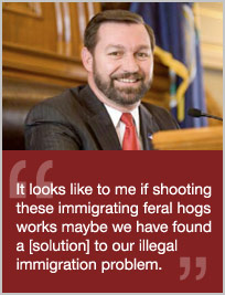 Take Action Against Kansas State Rep. Virgil Peck (R) Who Suggested Shooting Immigrants